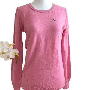 Lacoste Classic Pink Pullover Sweater